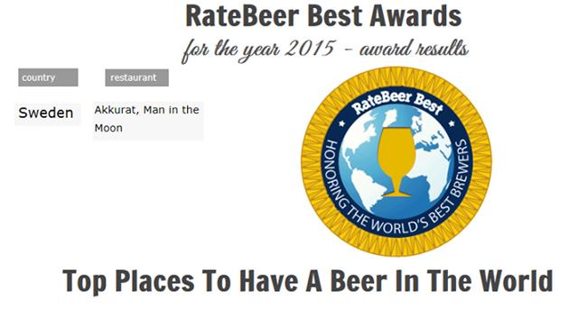 Sveriges bästa ölrestaurang